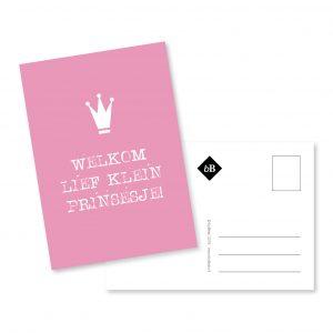 Postcard | Geboorte | meisje | roze | grafisch ontwerp | deventer | bybean