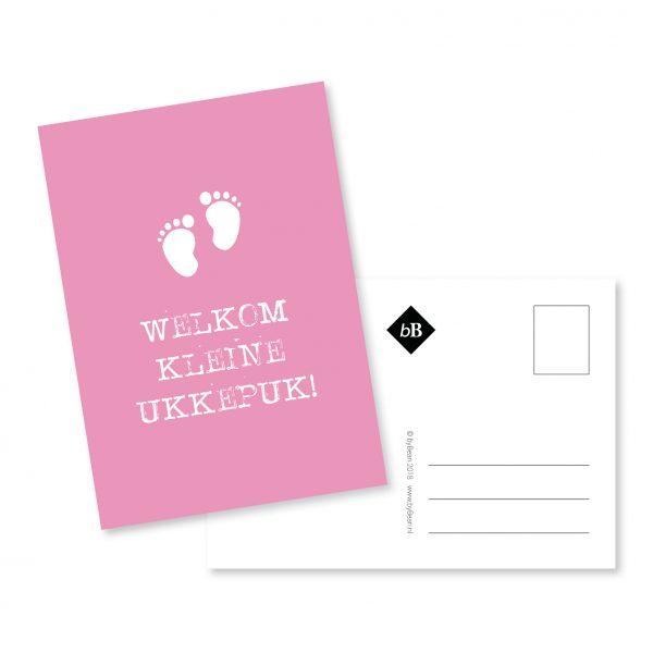 Geboortekaartje | ukkepuk | roze | grafisch ontwerp | deventer