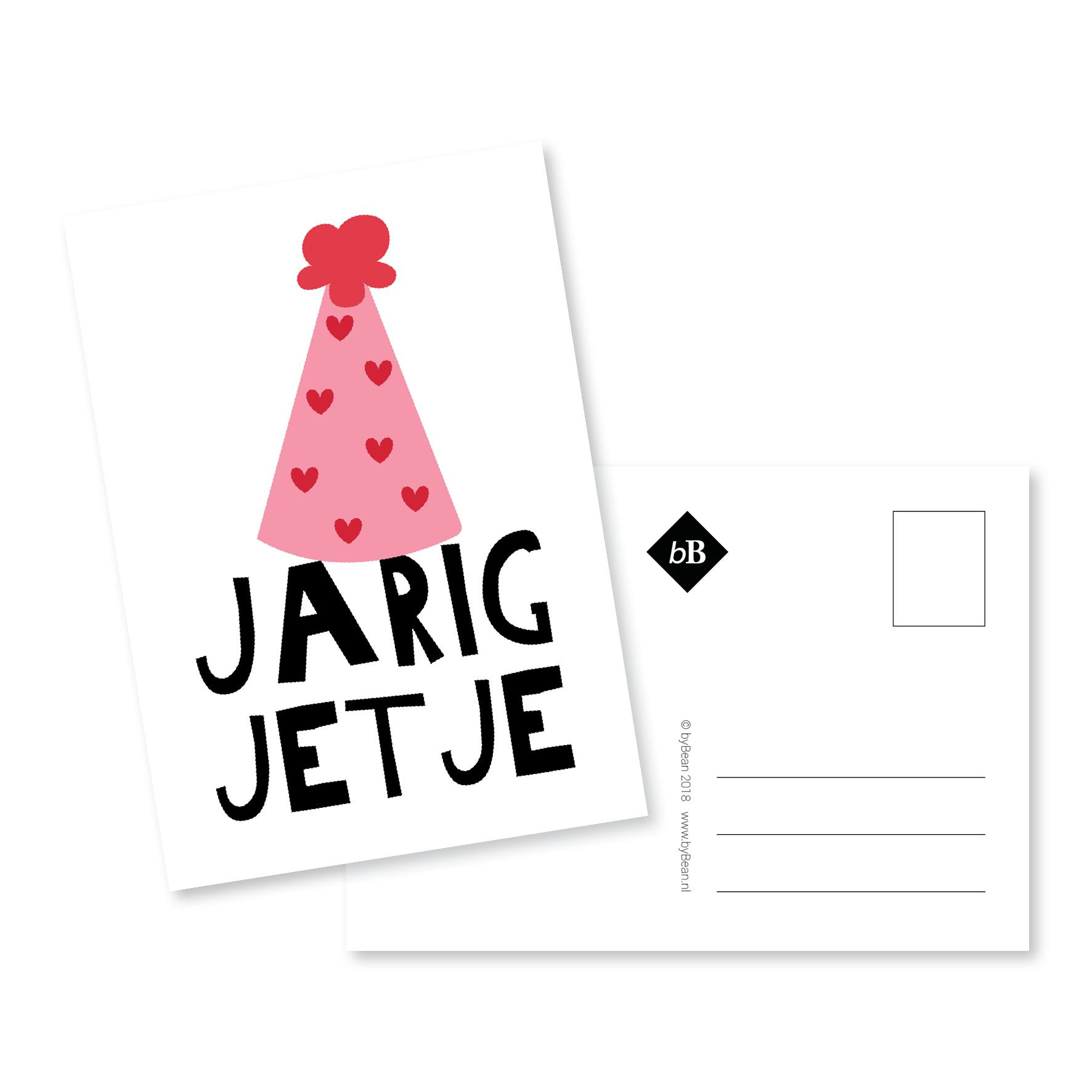 jarig jetje nl Kaartje Jarig jetje   byBean jarig jetje nl