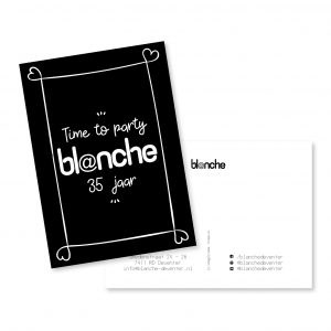 Postcard | Blanche | Grafisch ontwerp | byBean | Deventer