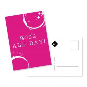 Postcard | wijn | rose | grafisch ontwerp | byBean | Deventer