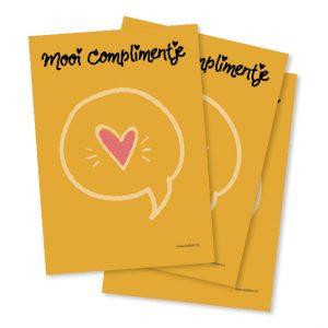 Notitieblokje A6 | Mooi Complimentje | byBean