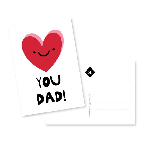 Kaartje Love you Dad! | byBean
