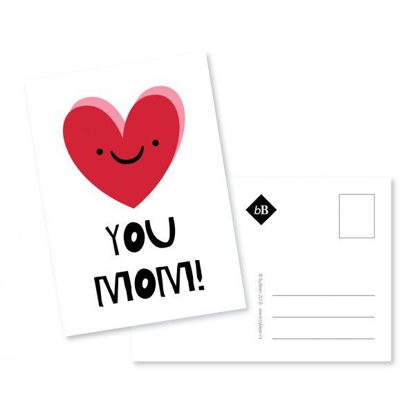 Kaartje Love you Mom | byBean