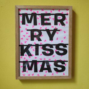 Merry Kiss Mas Riso Poster A3 byBean