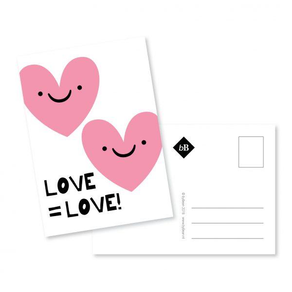 Kaartje A6 Love is Love byBean
