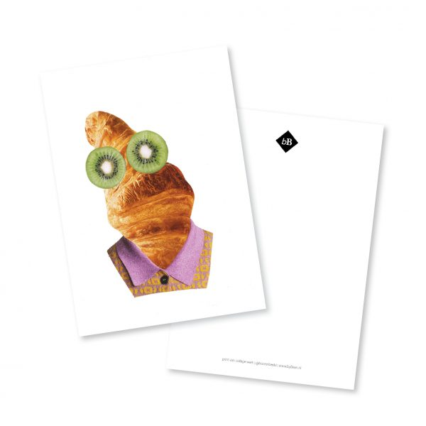 A5 kaart Monsieur Croissant