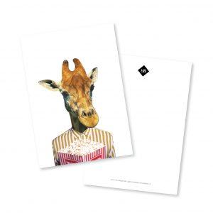 A5 kaart Monsieur Giraffe