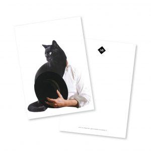 Collage kaart A5 Cat Man