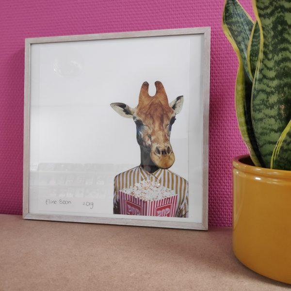 Originele collage | Monsieur Giraffe