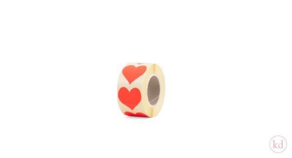 Stickers hart neon oranje kadodesign byBean