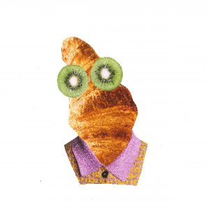 Originele collage | Monsieur Croissant | BooninBeeld