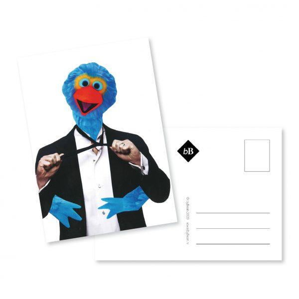 kaartje collage dubbel kostuum booninbeeld
