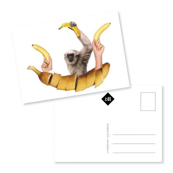 kaartje collage gaan met die banaan booninbeeld