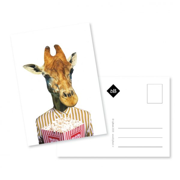 kaartje collage pop de giraffe booninbeeld