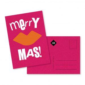 Kerst kaartje Merry Kiss Mas byBean