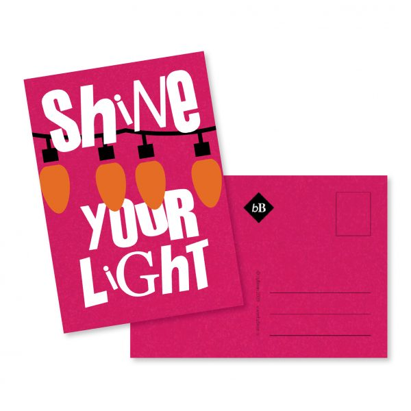 Kerst kaartje Shine your Light byBean