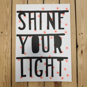 A3 Riso Print Shine your light byBean