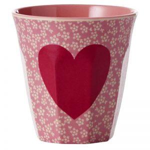 Rice beker rood hart valentijn bybean