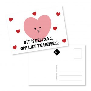 Kaartje Dit is een dag om lief te hebben! byBean
