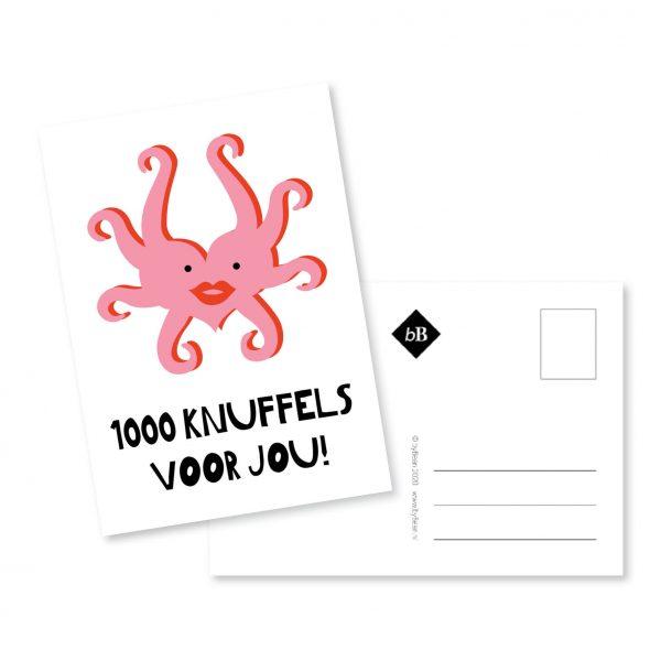 kaartje 1000 knuffels voor jou bybean