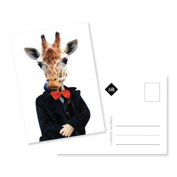 Kaartje collage guitig girafje bybean