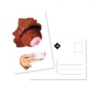collage kaart tiet voor thee bybean