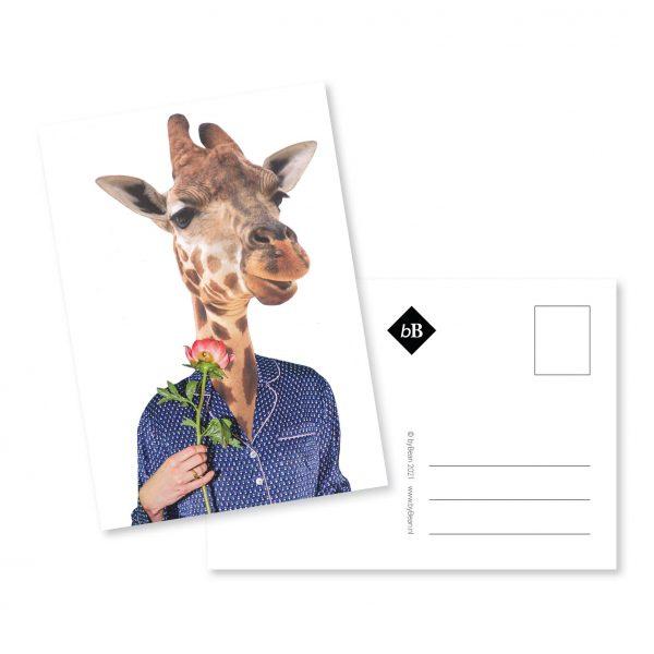 Collage kaart Ochtend Giraffe byBean