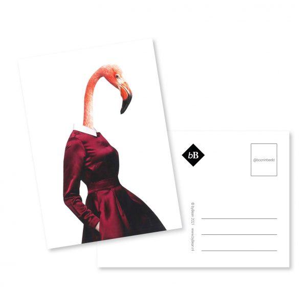 Collage kaart Fien Flamingo