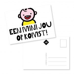 Kaartje Een mini jou op komst! byBean