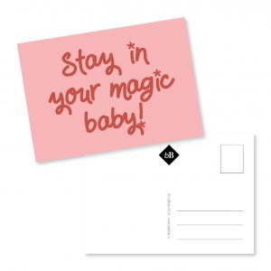 Kaartje Stay in your magix baby bybean